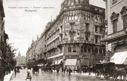 Budapest, Kossuth Lajos Straße, um 1905