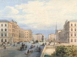Moriz von Löhr, Projekt für den Schwarzenbergplatz, 1861