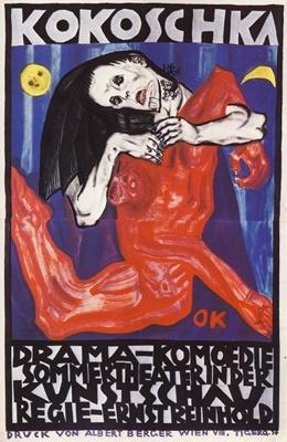 Oskar Kokoschka, Plakat für die 'Internationale Kunstschau', Wien, Lithografie, 1908