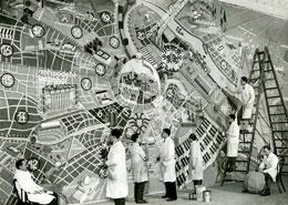 """""""Stadtplan von Wien im Jahre 3000"""" für das Gschnasfest Künstlerhaus, 1933"""