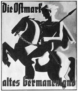 Ausstellungssujet Ostmalrk, altes Germanenland, 1939, Wien Messepalast