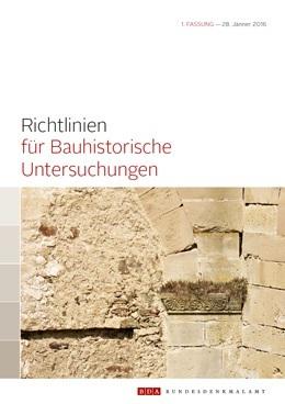 [Richtlinien für Bauhistorische Untersuchungen Cover]
