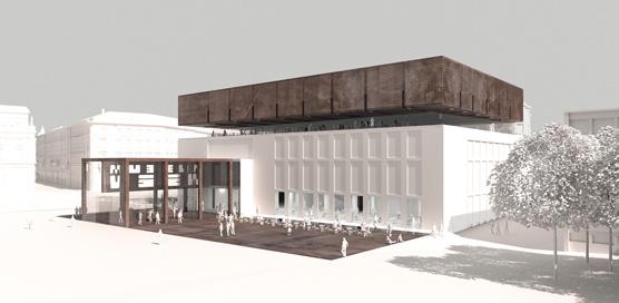 Winkler, Ruck, Certov, Rendering zum Siegerprojekt des Architekturwettbewerbs WIEN MUSEUM NEU